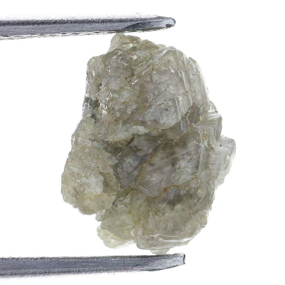 2.22 CARAT ROUGH DIAMONDS OUT FROM DIAMOND MINES SILVER NATURAL GEM DIAMOND