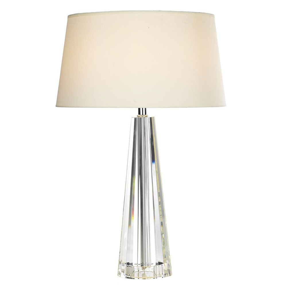Glass Base Table Lamps Cyprus Table Lamp With Crystal Glass Base  Table & Desk Lamps