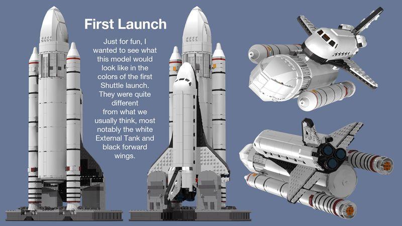 Lego WHITE ROCKET Space Ship Missile Moon
