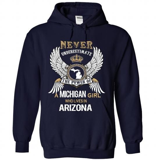 MICHIGAN Girl MI-AZ cifv - #christmas gift #gift basket. ADD TO CART => https://www.sunfrog.com/States/MICHIGAN-Girl-MI-AZ-cifv-5593-NavyBlue-Hoodie.html?68278