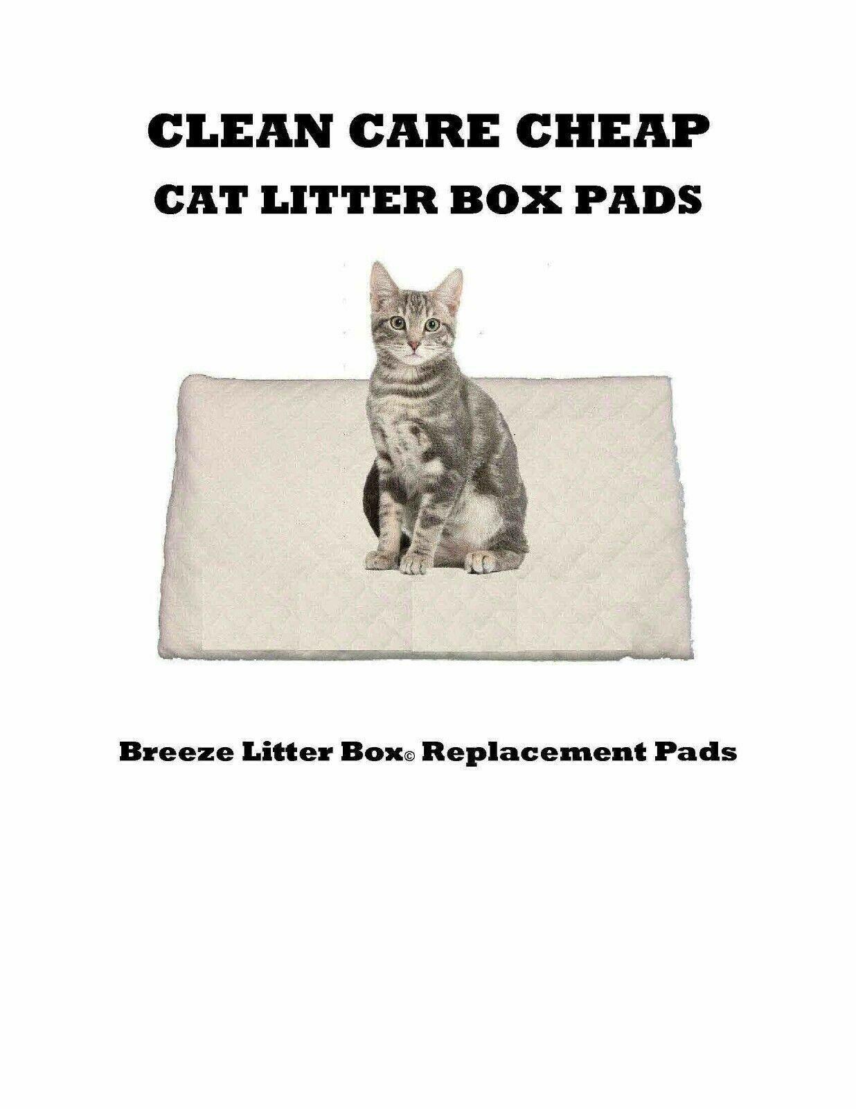 40 Clean Care Cat Litter Box Liner Pads for Breeze Litter