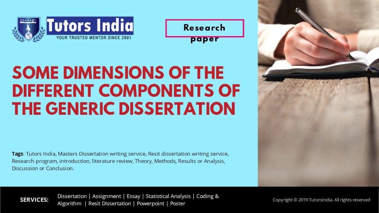 Component Of Master Dissertation Writing Tutorsindia Com For Mydisse The Present Articl Service Essay Copyright