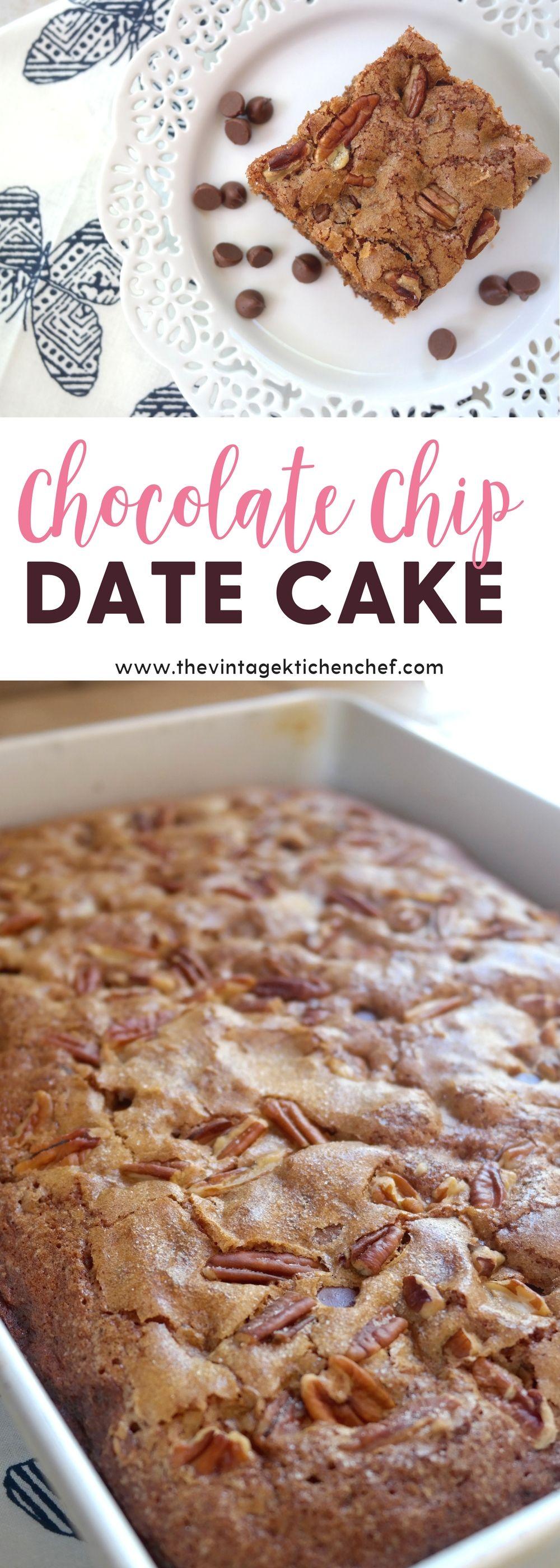 Chocolate chip date cake recipe date cake cake bars