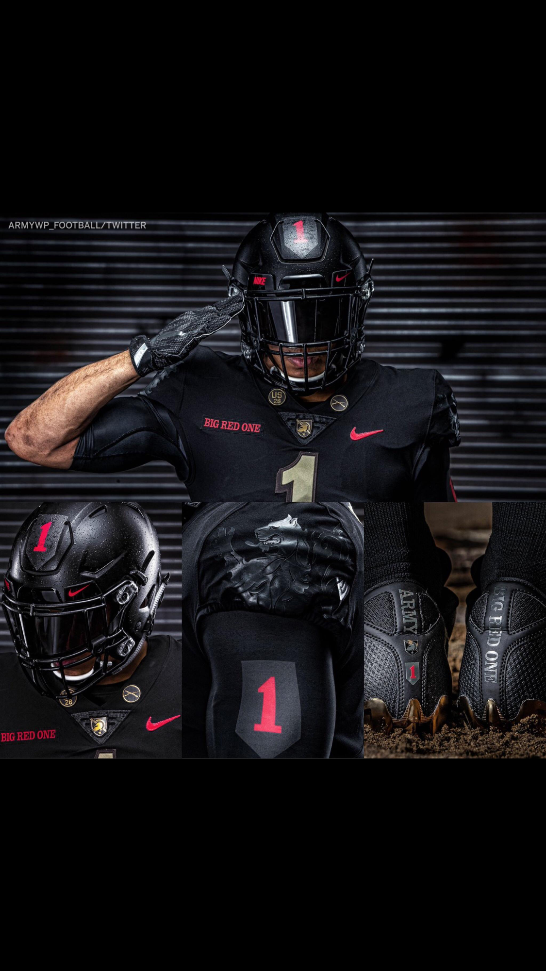 huge discount 86be8 ed668 Army football | Blackout Football Uniforms | Army football ...