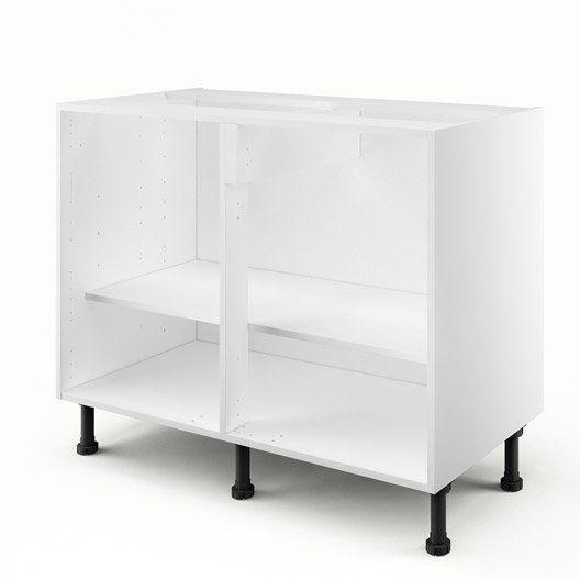 Caisson De Cuisine Bas B100 Ab100 Delinia Blanc L 100 X H 85 X P 56 Cm Shelving Unit Shelving Shelves