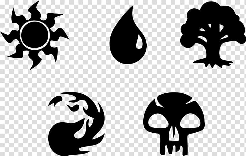 Five Assorted Logo Illustration Magic The Gathering Rules Magic Points Playing Card Mana Others Logo Illustration Magic The Gathering Graphic Design Poster