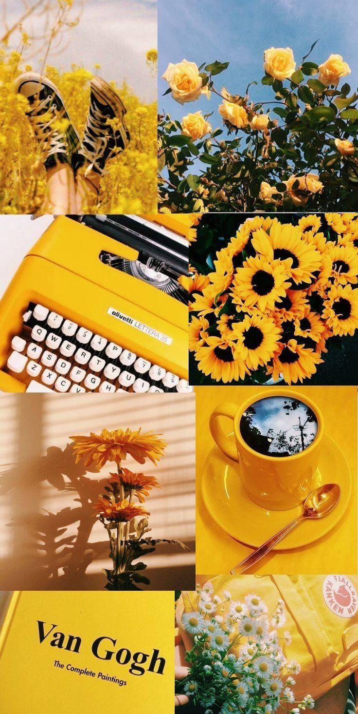 Gelbe ästhetische Tapete #yellowaesthetic