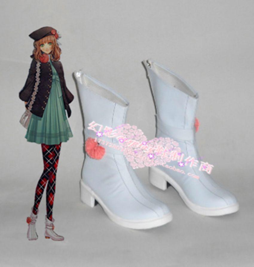 Click to Buy << Amnesia Heroine White Halloween Short Cosplay Shoes ...