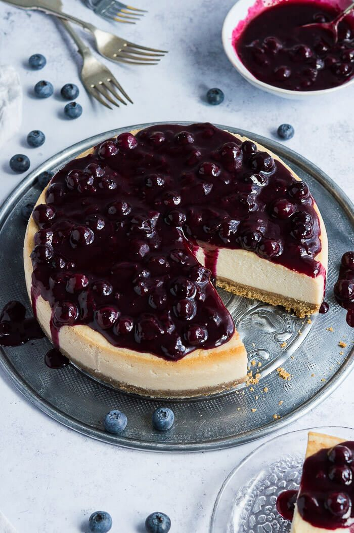 Vegan Lemon Blueberry Cheesecake - Domestic Gothess
