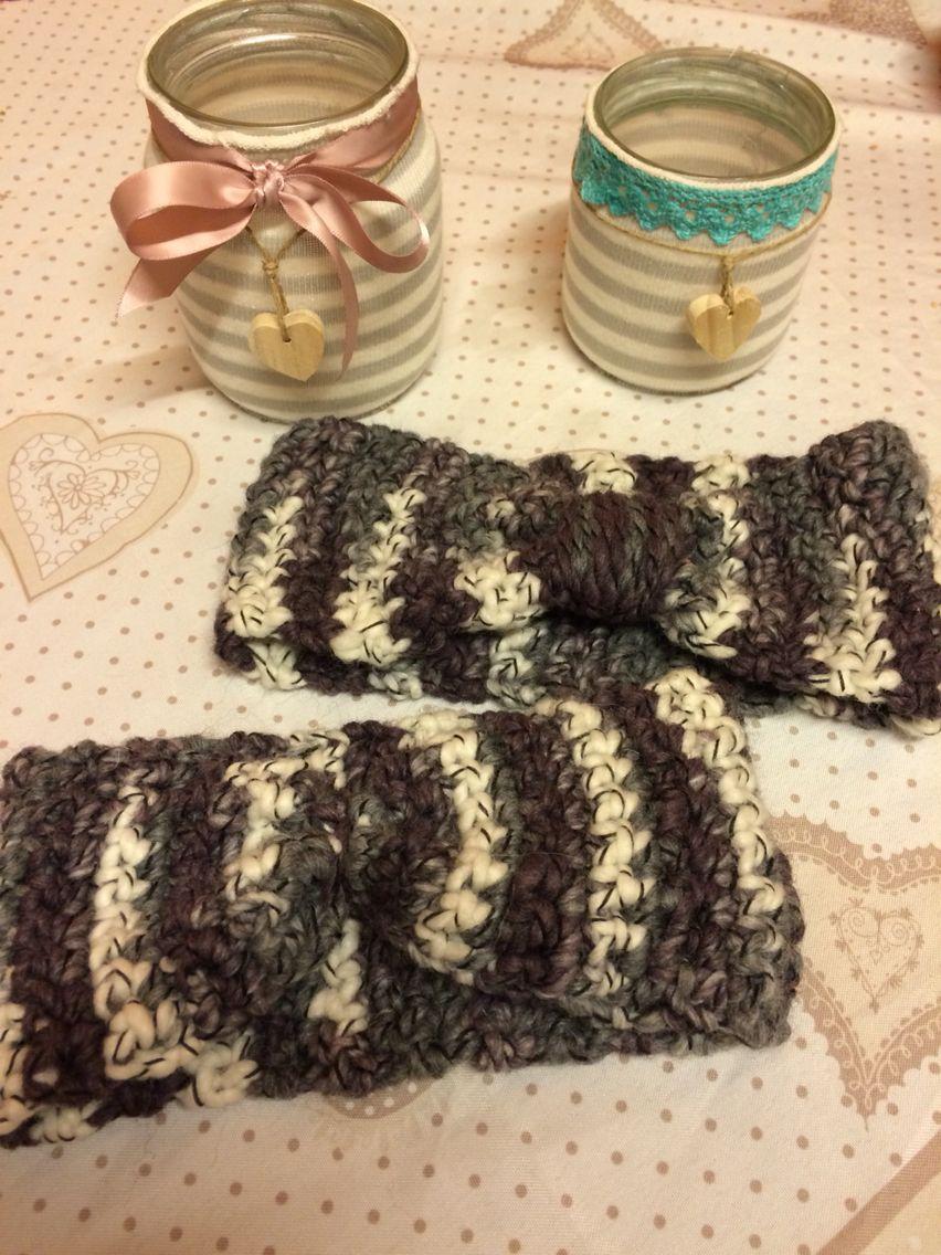 Porta gioie e fascia per capelli handmade