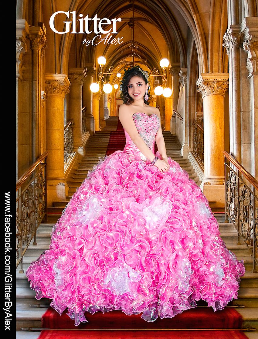 Glitter Alex vestidos Quinceanera | Quincenera dress magic ...