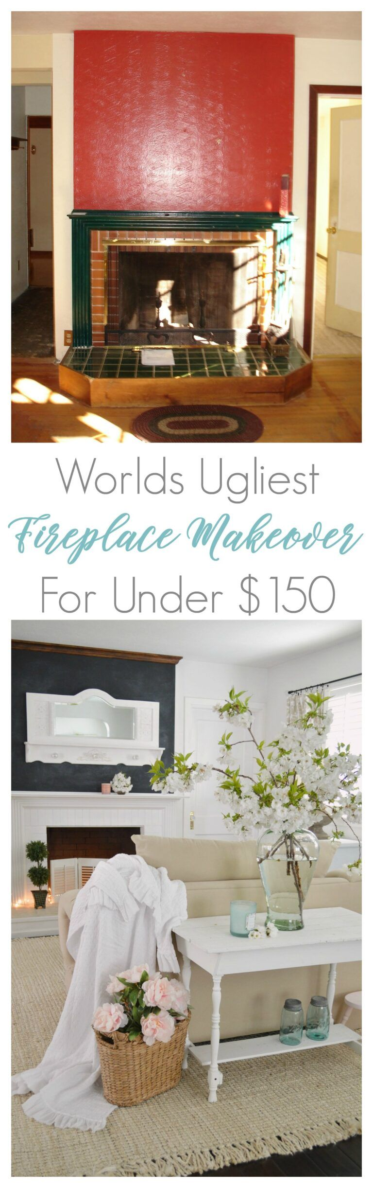 DIY Fireplace Mantel and Hearth Makeover in 2020