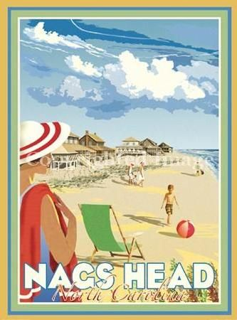 Beach Town Posters Retro Art Deco And Vintage By Aurelio Grisanty Beachtownposters
