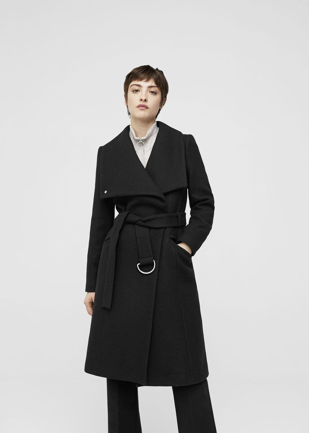 1bde911aa354 Lapels wool coat - Woman   Mango   Coats for women, Coat, Wool coat