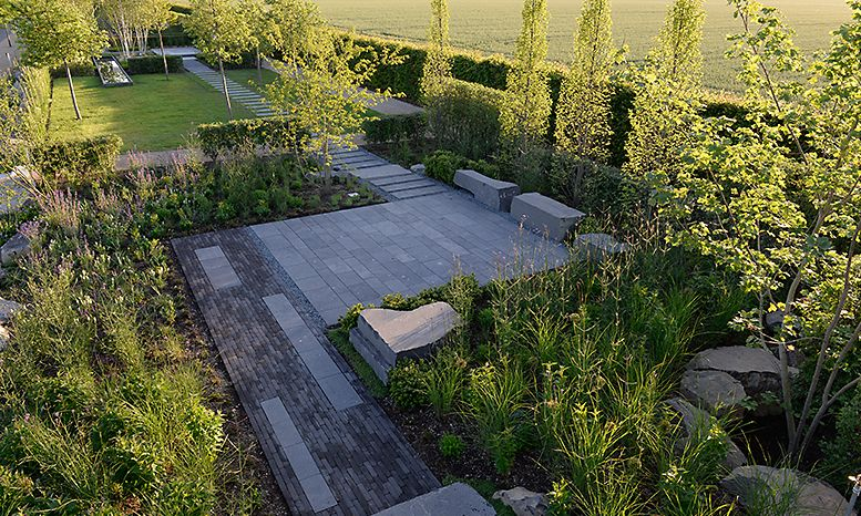 Project Laga Show Garden Right On The Lake Category Private Garden Garden With Water Landscape Design Contemporary Landscape Design Contemporary Landscape
