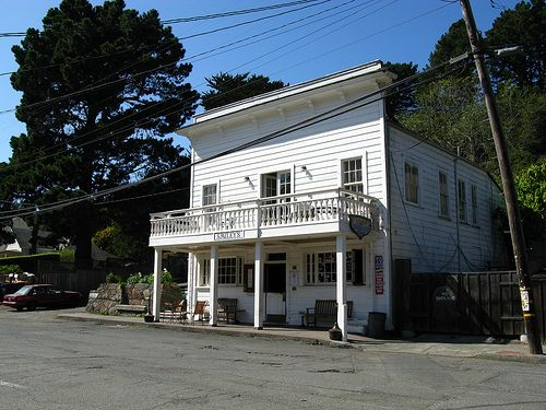 Bolinas, CA - General Store.  A great place for a sandwich, sitting outside on the benches with the local people!!