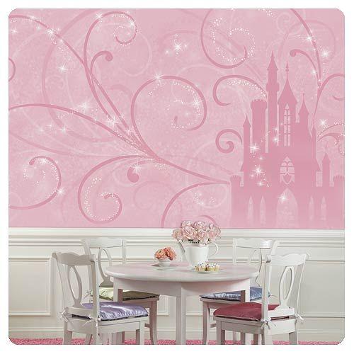 Charming Disney Princess Scroll Castle Full Wall Mural   Roommates   Disney  Princesses   Wall Murals At