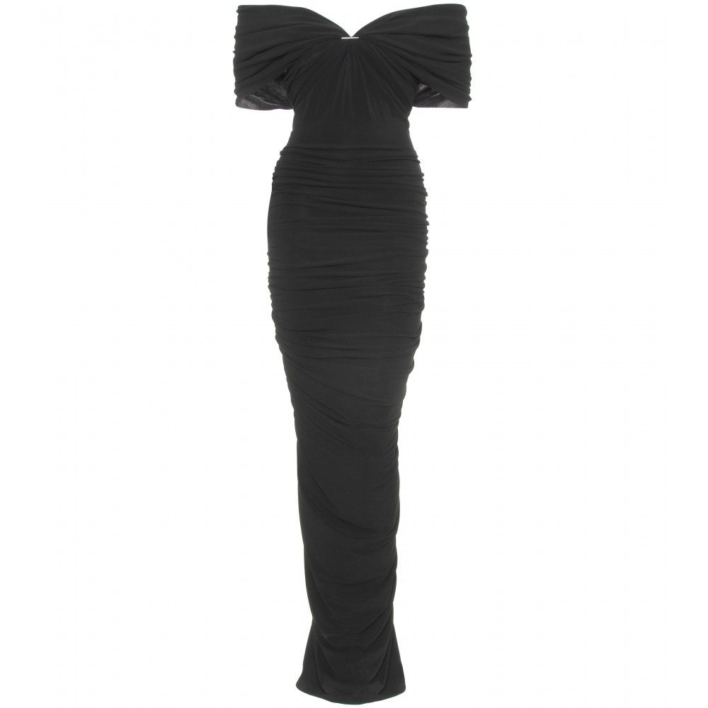 Lanvin draped evening gown mytheresa gmbh black tie