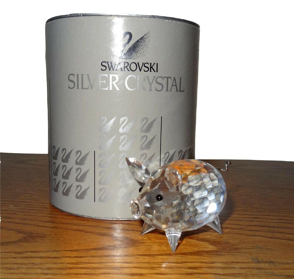 4303da544 Swarovski Pig Medium #7638 NR50 Silver Crystal Full Lead Original Box Mint  PS
