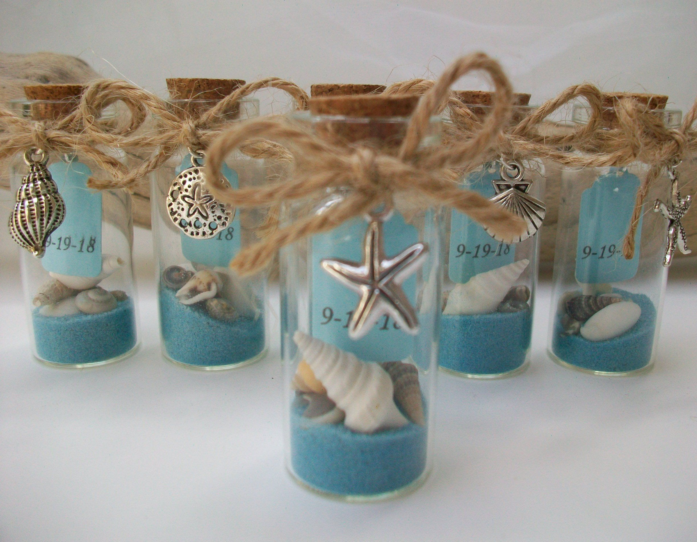 Beach Message In Bottle Favor Shell Starfish Charms Beach Theme