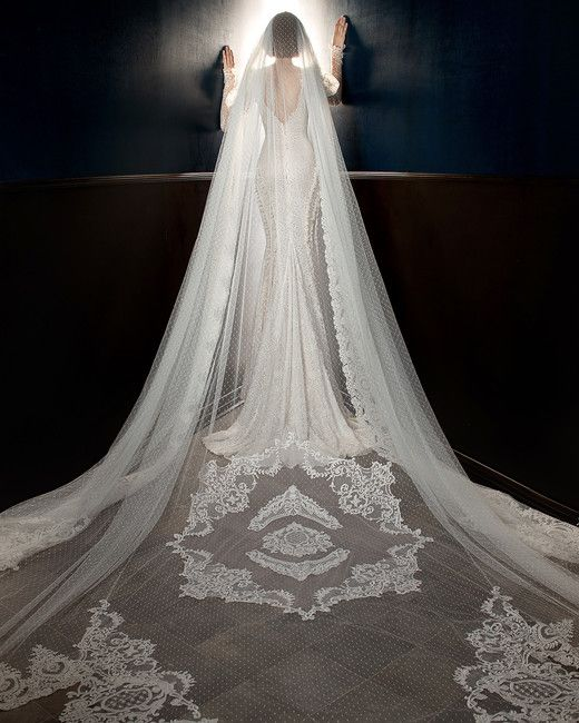 galia lahav wedding dress spring 2018 long sleeves mermaid veil back wedding veil