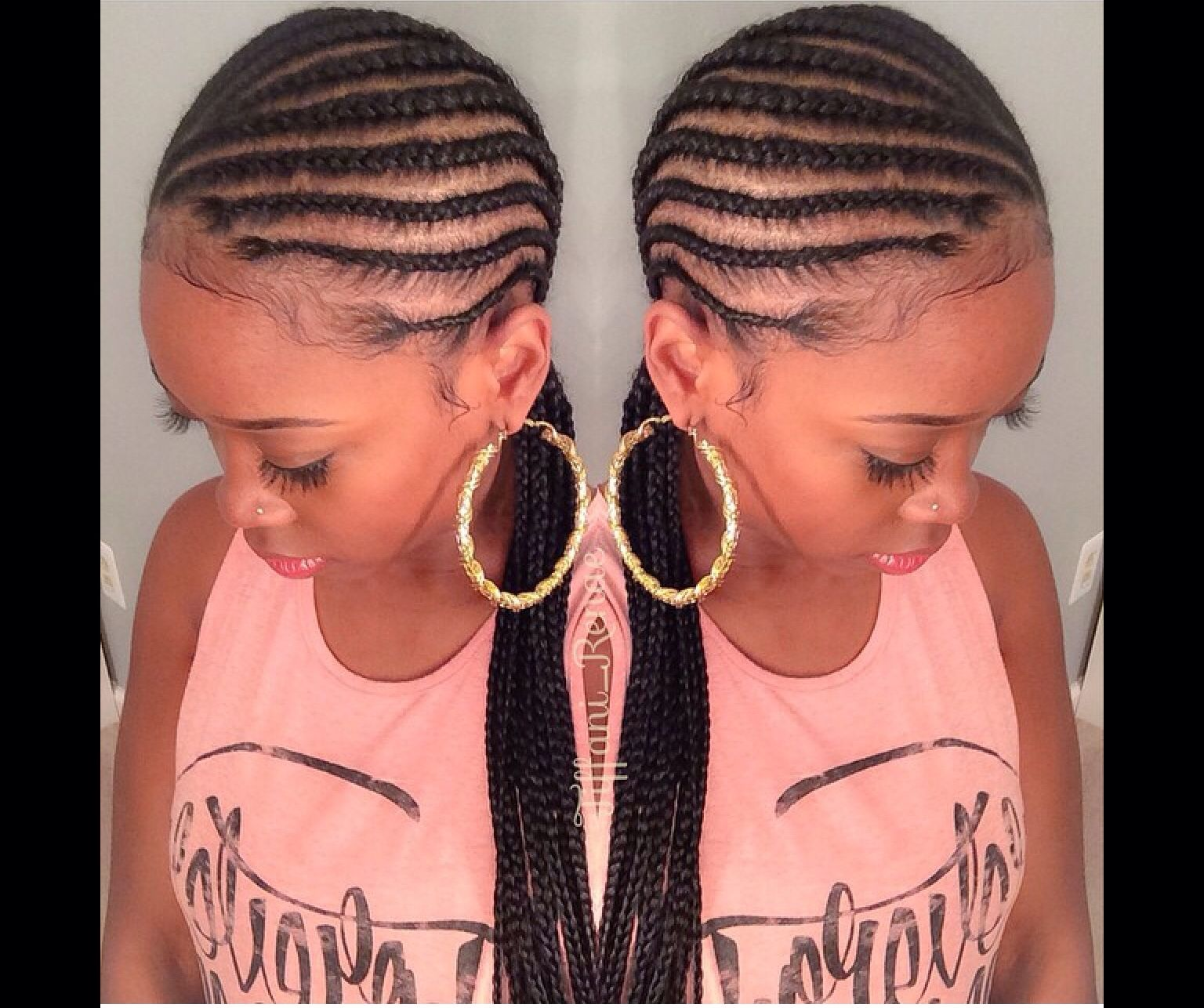Skinny Cornrows Natural Hair Styles Beautiful Hair Hair Styles