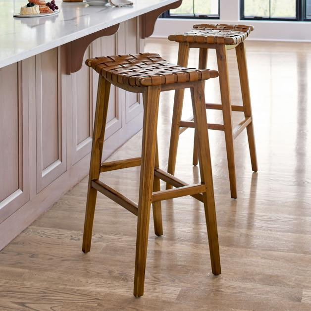 Augusto Backless Bar Counter Stool Grandin Road In 2020 Counter Stools Wooden Kitchen Stools Backless Bar Stools