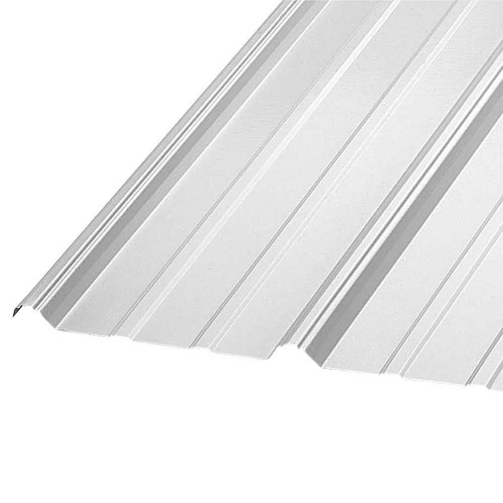 Construction Metals 10 Ft Pbr Galvalume 26 Gauge Roof Panel