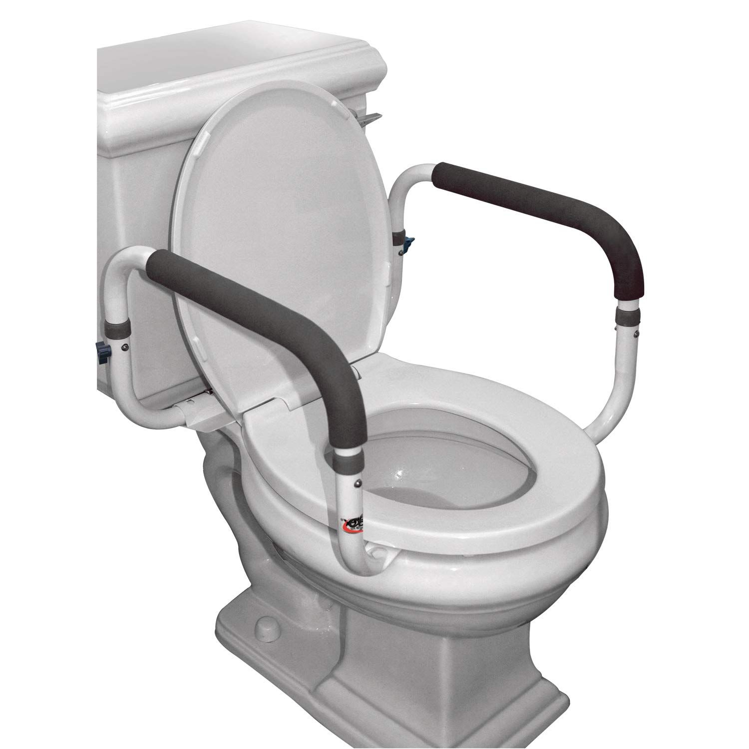 Carex Toilet Support Rail with Height Adjustable Legs and