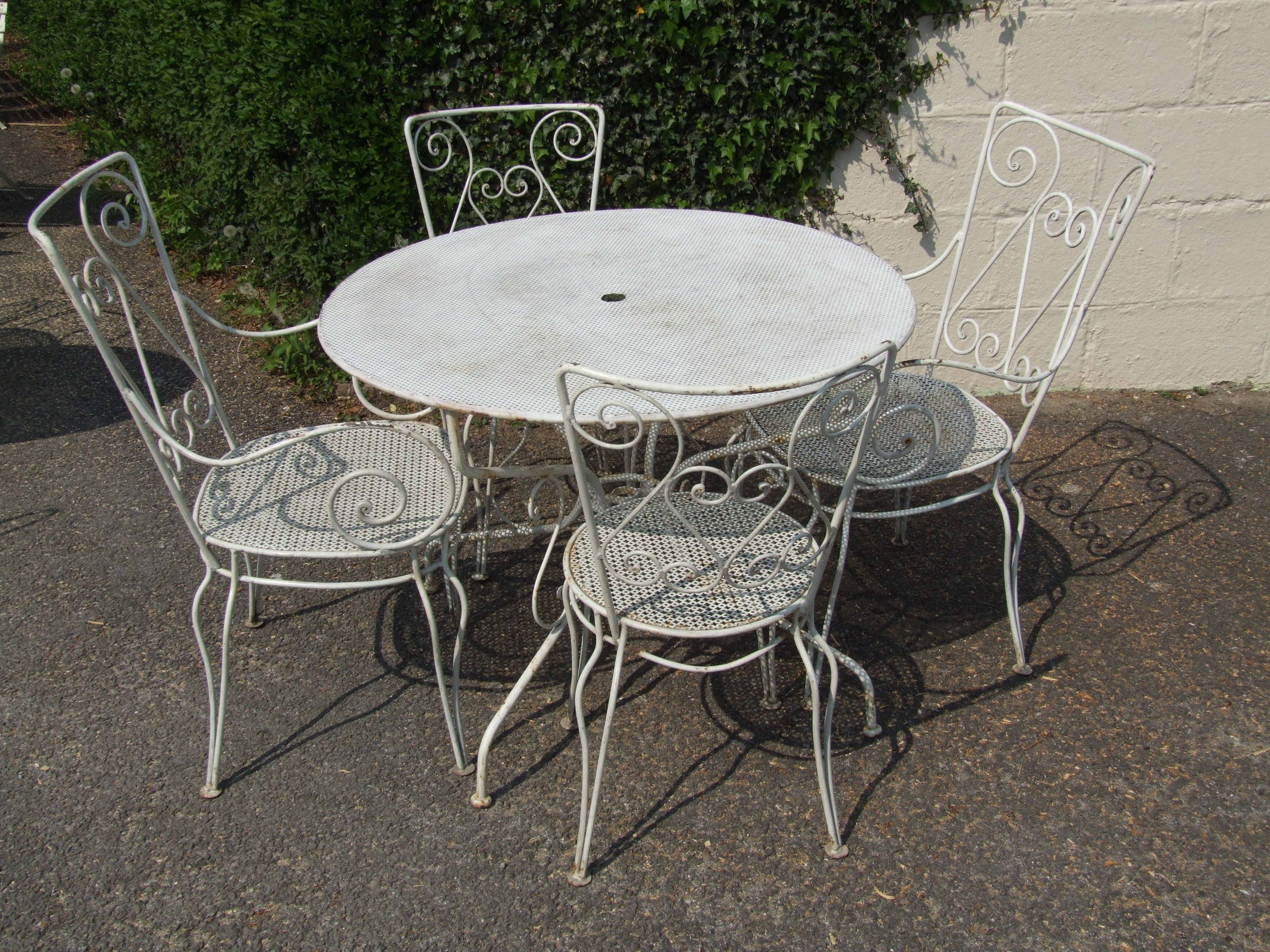 chairs wrought furniture chair size as table carving side room patio vintage metal and of white full sets wood kitchen outdoor dining quality iron