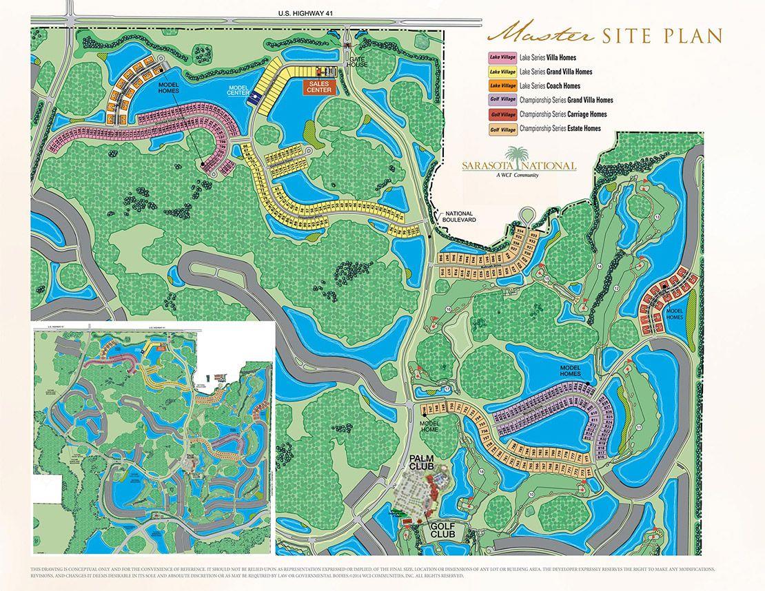Site Map Sarasota National Wci Communities Sarasota Site Plan Map