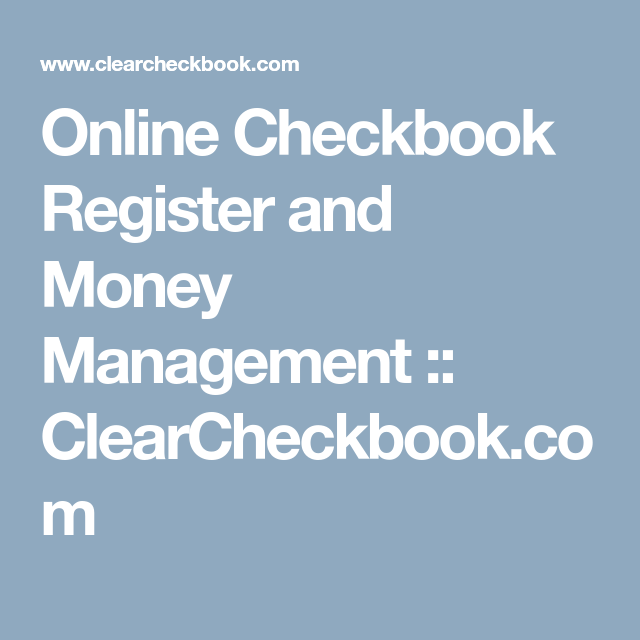 online checkbook ledger