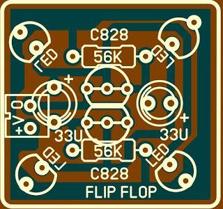 Membuat Rangkaian Flip Flop Transistor C828 Rangkaian Elektronik Led Elektronik