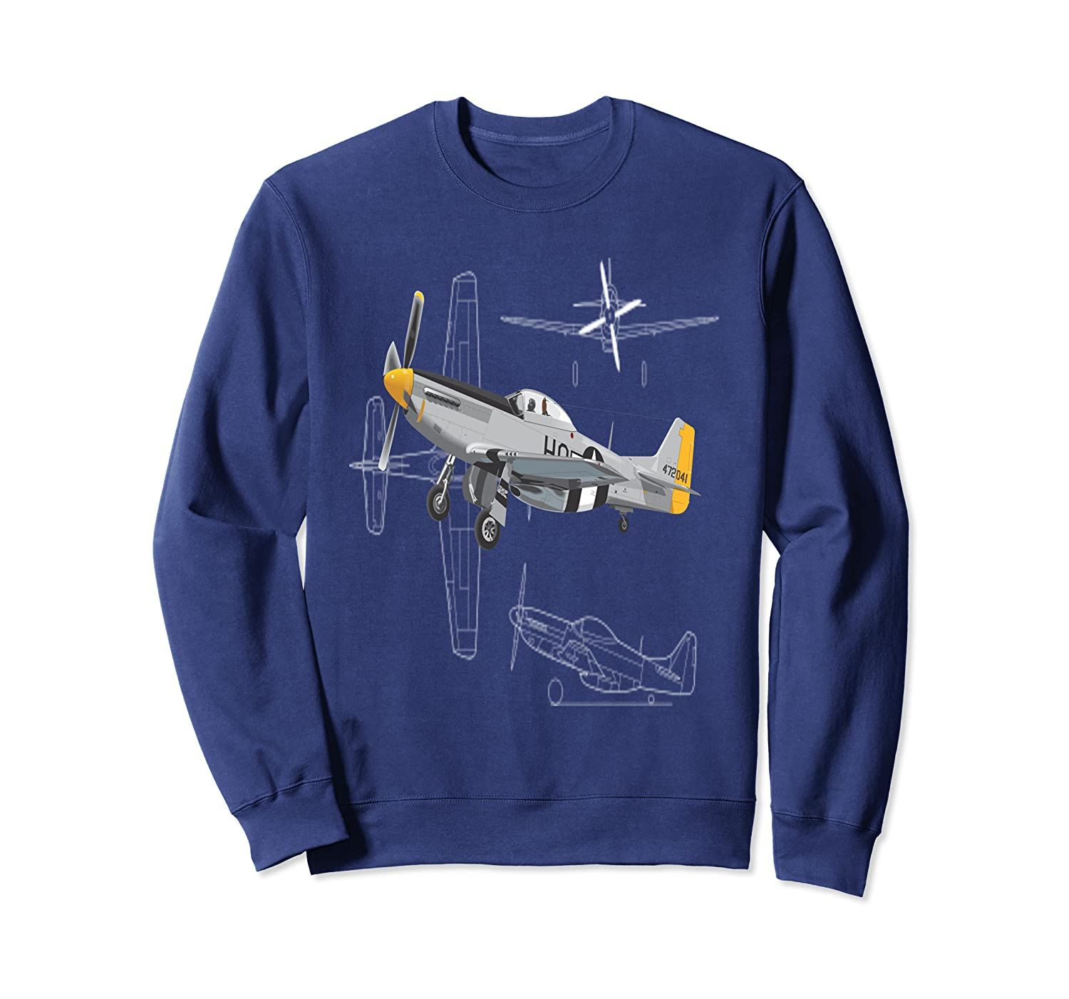 P-51 Mustang WWII Fighter Airplane Sweatshirt