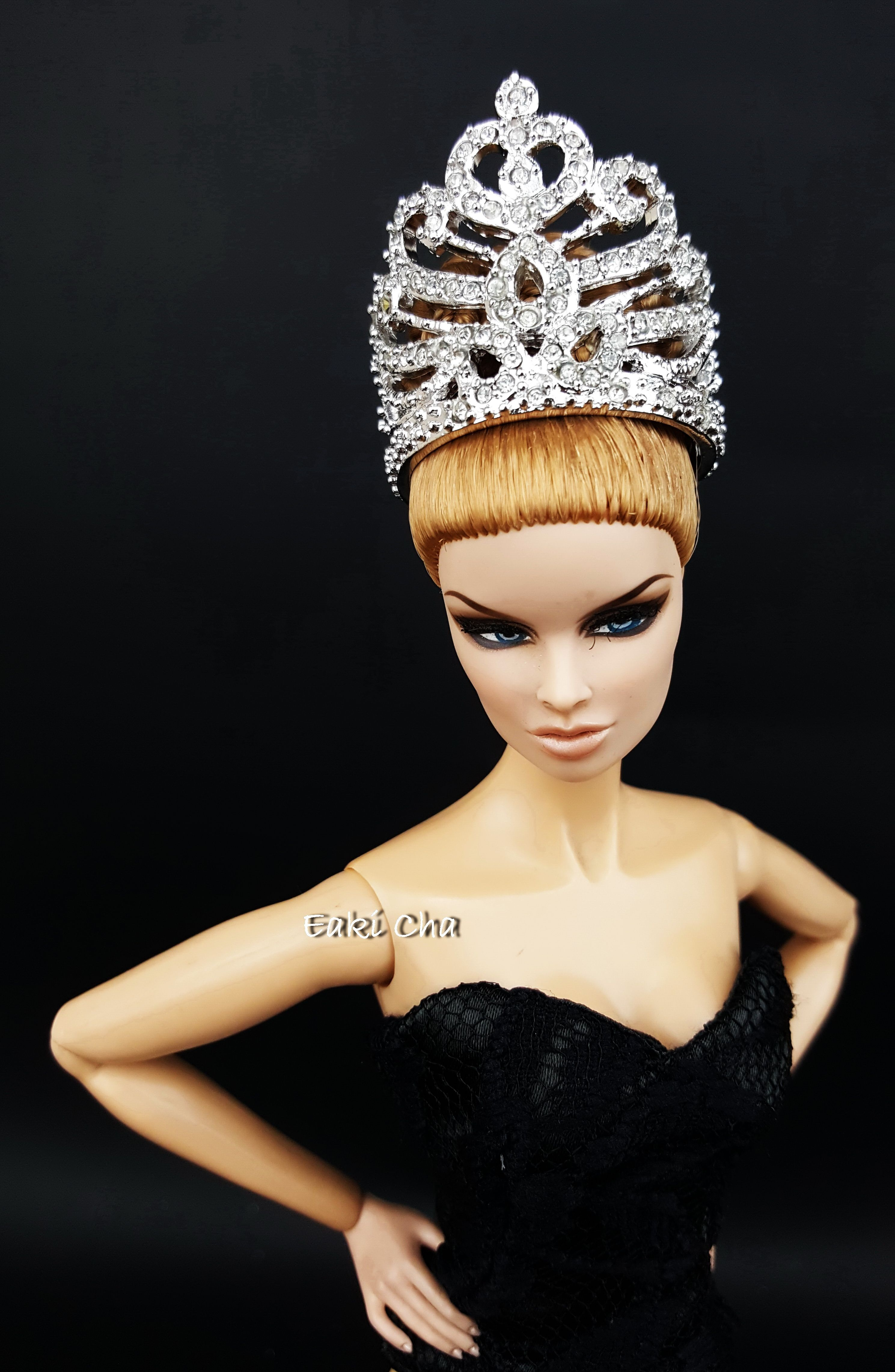 Miss Universe's Diamond Crown Tiara for Fashion Royalty Barbie Dolls