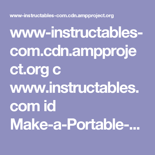 Www Instructables Comnpproject C Instructables Id
