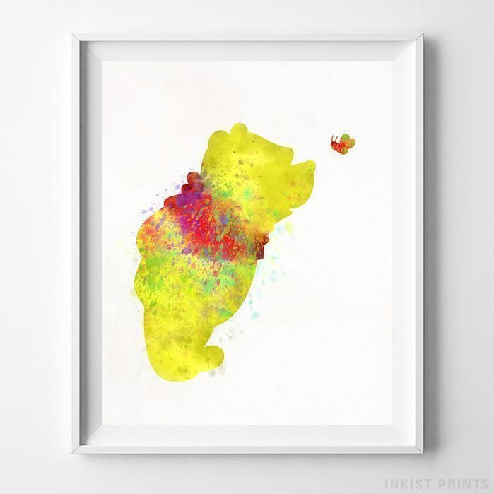 Pooh, Winnie the Pooh Type 1 Print | Watercolor walls, Watercolor ...