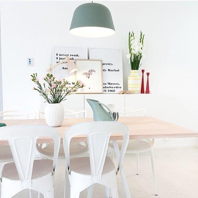 Nydelig kjøkken @cathrinehenden Den fine pendel lampen finner du på…