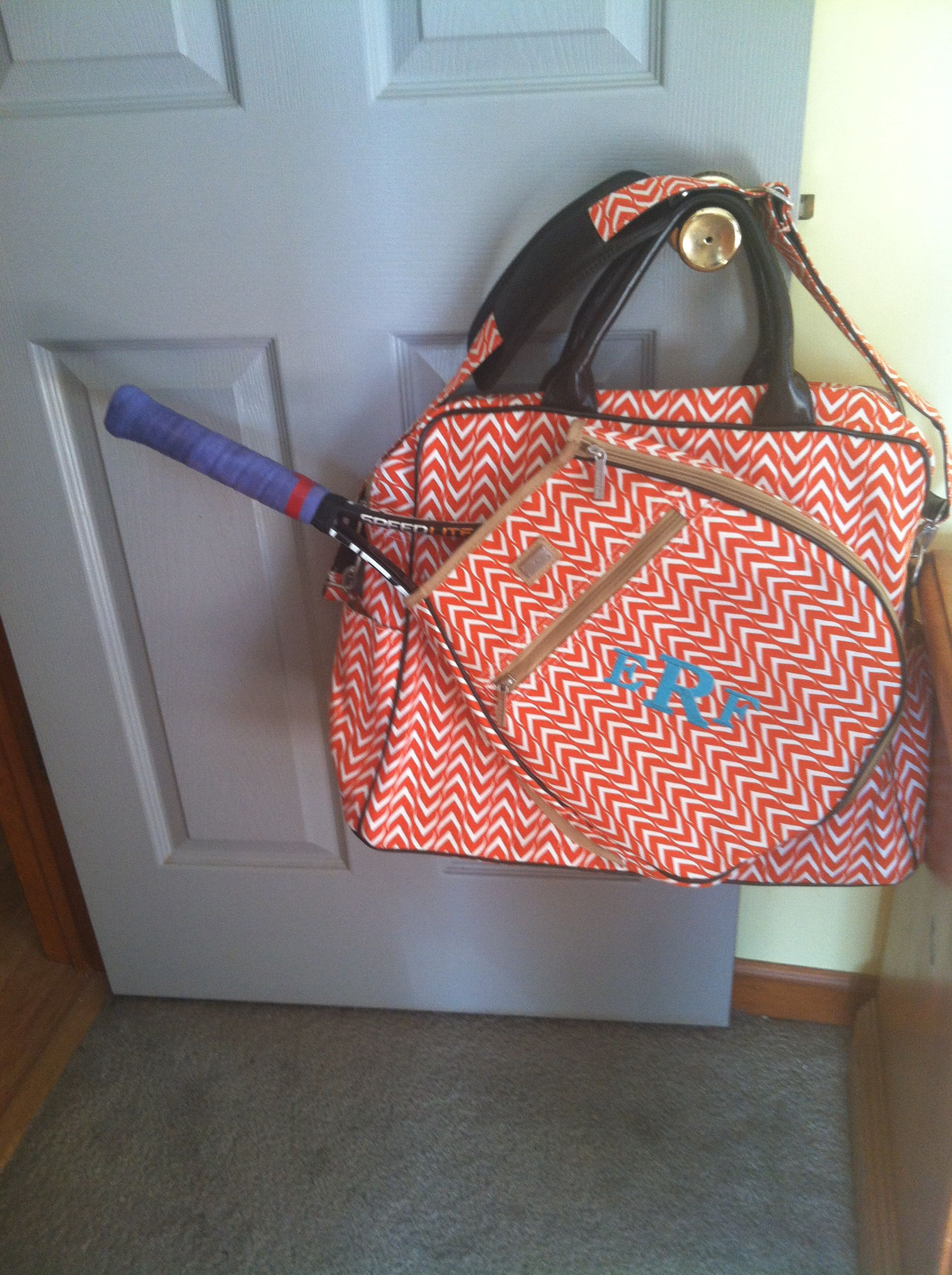Love My Monogrammed Tennis Bag From Ame Lulu