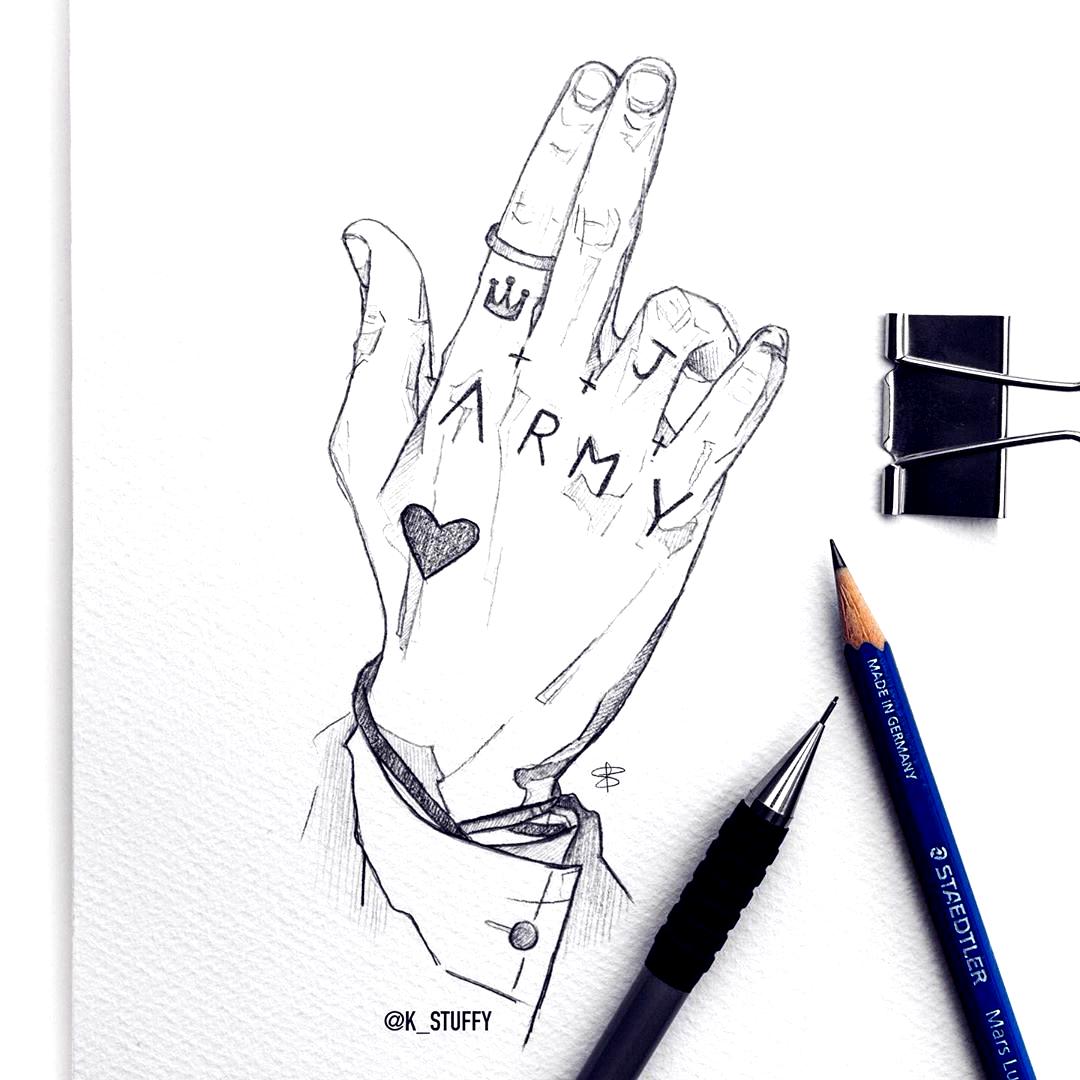 Bts Jungkook Hand Tattoo I Know There Is A Smiley Too But What Does He Look Like Bts Em 2020 Bts Desenho Bts Jungkook Desenhos De Celebridades