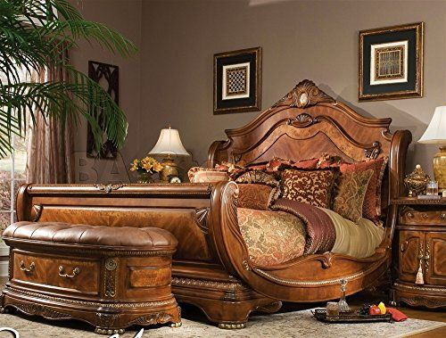 Extraordinary Classic Luxury Furniture Cortina Sleigh Bed By
