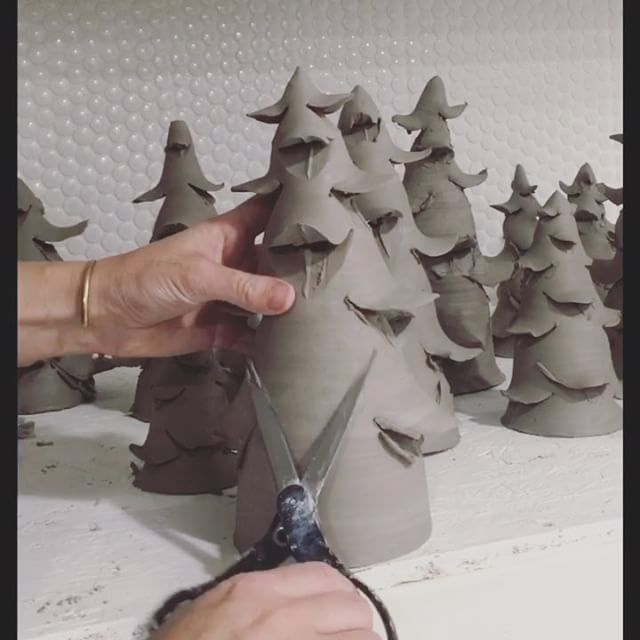 "Molly • Clay Enthusiast on Instagram: ""Just when you thought the trees were over!!! Due to all of my friends and family's requests, I'm making one more small batch of trees and…"""