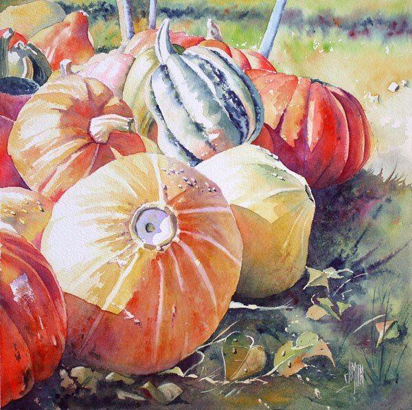 Dzhoel Sajmon Peinture De Nature Morte Aquarelle Florale