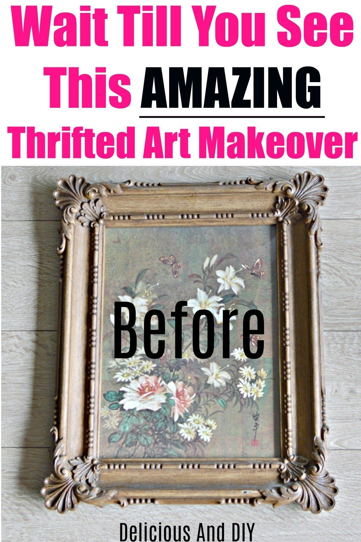 Learn how you can update a boring thrift store wall art just by repainting over it with bright vibrant paint colors| Update Thrift Store Art with this easy to do DIY project| Turn boring piece of thrift store wall art into vibrant pieces of Art #thriftedart #thriftstoreart #homedecor #wallartdecor #diywallart #paintedart