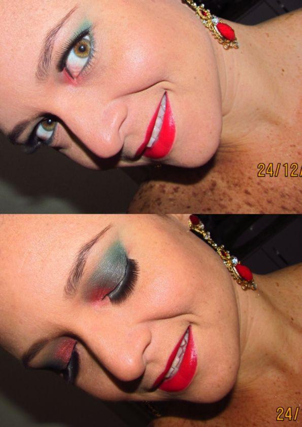 Minha Make up de natal