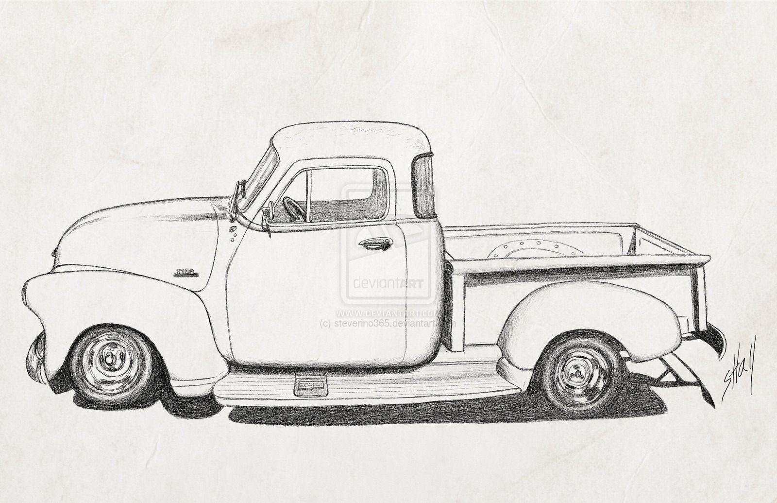 Cartoon 1954 Chevy Truck Google Search Crafts