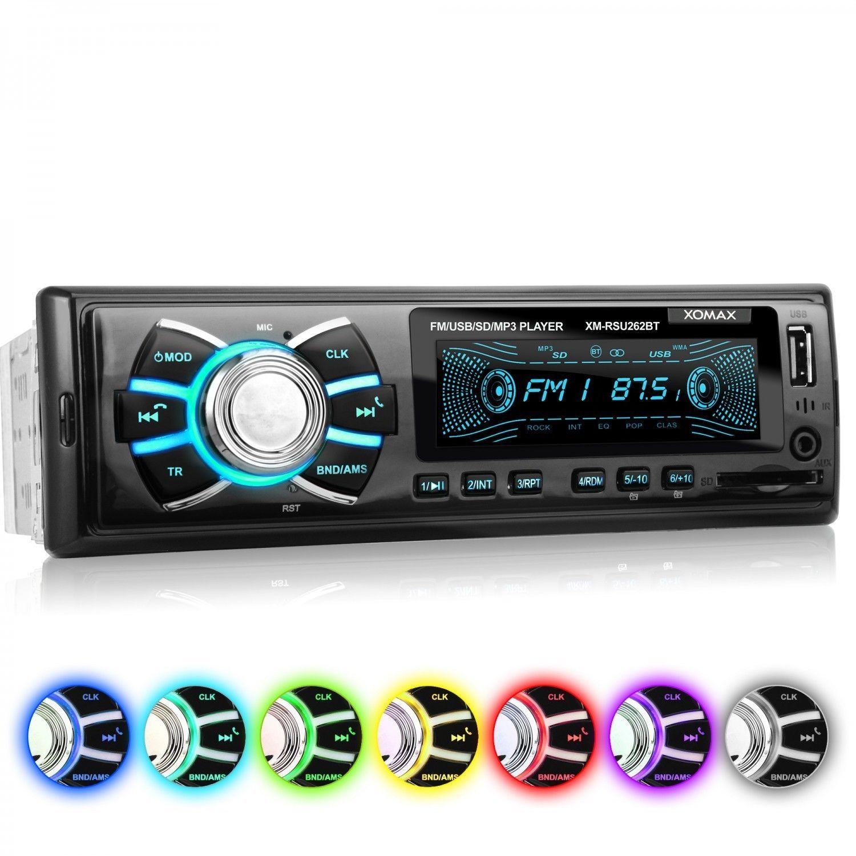 AUTORADIO FM RADIO BLUETOOTH FREISPRECHEINRICHTUNG USB SD AUX-IN MP3 1DIN