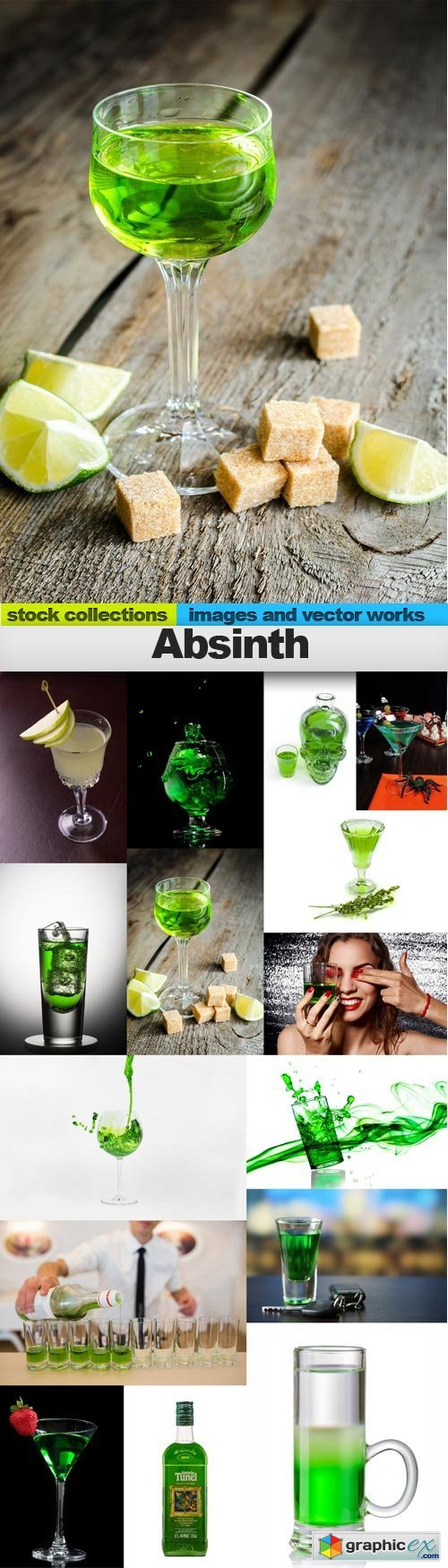 Absinth 15 x UHQ JPEG  stock images