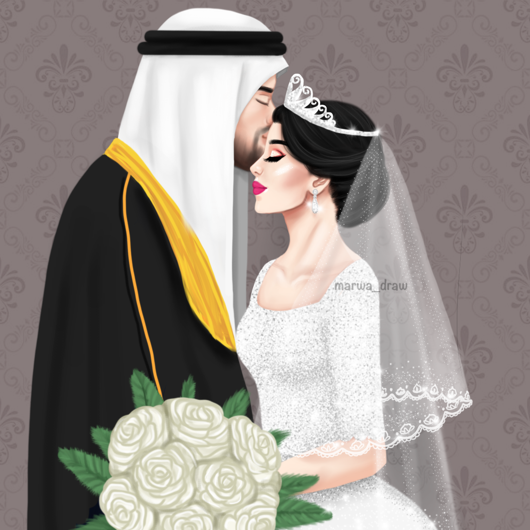 Pin By Amna On Wedding Cute Couple Art Wedding Drawing Cute Couples