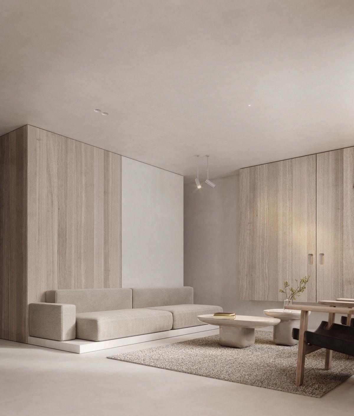 Minimalistkitchen Interior Design: Neutral, Modern-Minimalist Interior Design : 4 Examples